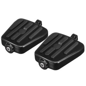 Motorcycle Mini Footboards Foot Pegs Black Male Mount For Harley