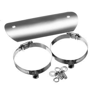 Motorcycle Exhaust Muffler Heat Shield Pipe Protector Cover Heel Guard