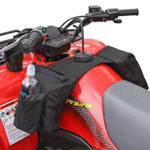 Mototorcycle Gas Tank Saddlebag with Water Bottle ATV Snowmobile Bag