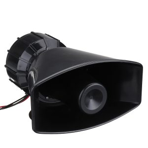 12V 3 Sound Recording Car Police Siren Horn + Mic PA Speaker System Fire Alarm