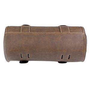 Motorcycle Tool Brown Bag Luggage Saddlebag Roll Barrel Storage For Harley Sportster
