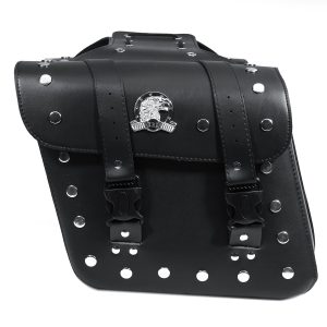 Motorcycle PU Leather Side Bag Saddlebags For Harley Sportster XL883 XL1200
