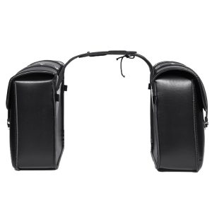 Motorcycle PU Leather Side Saddlebags Storage For Harley Sportster XL883/1200