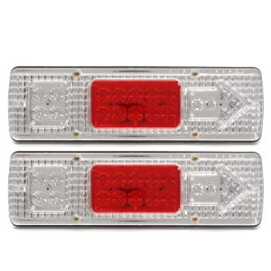 Pair 12V 0.5A 19LED Car Tail Light Stop Indicator Lamp for Trailers Trucks Lorries