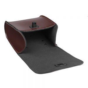 1 Pcs Black/Brown PU Leather Motorcycle Bicycle Tool Bag Luggage Saddlebags