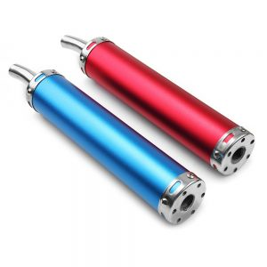 280MM Motorcycle Racing Blue Red Exhaust Muffler Pipe Silencer 2 Stroke
