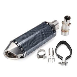 Motorcycle Exhaust Muffler Slip-On Middle Pipe For Kawasaki Z250 Ninja 300 250R