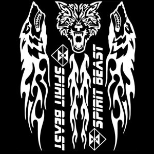 SPIRIT BEAST Reflective Motorcycle Stickers Gas Fuel Tank Protector Car Decoration