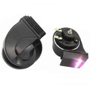 12V 10A 110db 50W Motorcycle Snail Horns With LED Lamp Steel