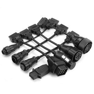 8pcs OBD2 OBDII Full Set Diagnostic Tool Adapter Truck Cables for AUTOCOM CDP