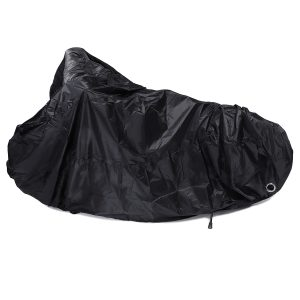 190T Motorcycle Rain Cover Scooter Waterproof UV Dust Protector Black Size M