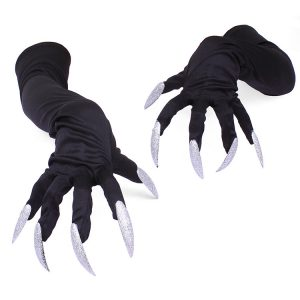 Long Nails Gloves Halloween Cosplay Props Suits Hand Sleeves Paw Performance Cuffs