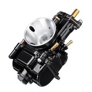 28mm Motorcycle Titanium Flat Slide Carburetor For Keihin Carb PWK Mikuni Power Jet Kit Fab