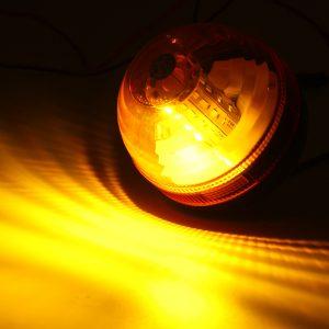 12V-24V LED Rotating Flashing Amber Beacon Flexible Tractor Warning Signal Light