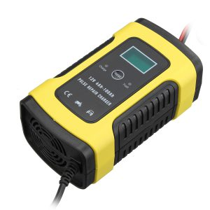 Enusic 12V 6A Pulse Repair LCD Battery Charger For Car Motorcycle Lead Acid Battery Agm Gel Wet