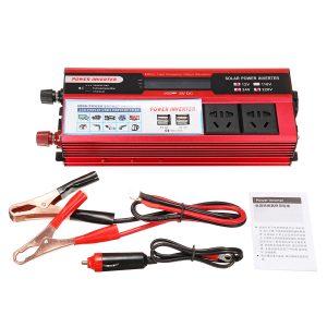 VD-1500LCD 12V 24V To 110V 240V LCD Modified Sine Wave Power Car Inverter