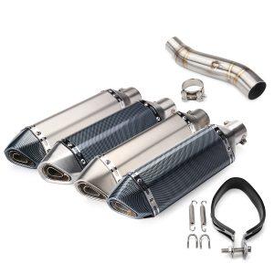 51mm Exhaust Muffler Pipe Slip On Link Middle Pipe For Honda CBR300R CB300F