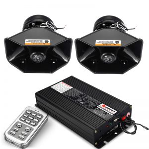 18 Siren Loud Warning Alarm Police Siren Horn Amplifier Car Speaker System 400W