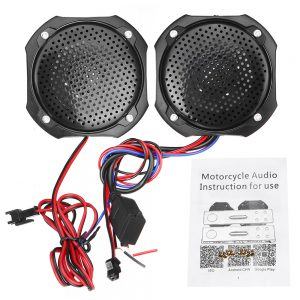 Pair 12V Motorcycle Scooter ATV MP3 Music Players Stereo Speaker FM Radio With bluetooth Function