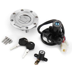 Ignition Switch Lock & Fuel Gas Cap Key Set For Yamaha MT03 06-12 YZF R6 R1 98-05