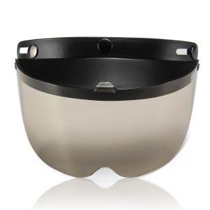 Open Face Helmet 3-Snap Shield Visor Cover For Motorcycle Bike Universal