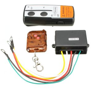 12V Wireless Electric Winch With 75FT 22.5 Meters Remote Control Range
