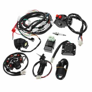 Full Electrics Wiring Harness Loom CDI Coil For GY6 150CC ATV Quad