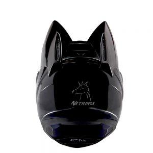 NITRINOS Motorcycle Full Face Helmet Women Cat Ear Women Personality 5 Colors