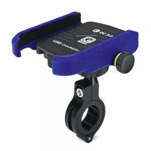 Aluminium QC3.0 USB Fast Charger Motorcycle Motorbike Mobile Phone Holder Mount