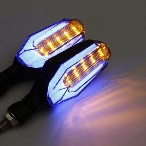 Motorcycle Turn Signal LED Lights Universal Daytime Running Warning Cafe Racer
