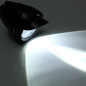 Retro Vintage Classic Metal Bike LED Headlight Front Fog Light Head Lamp Black