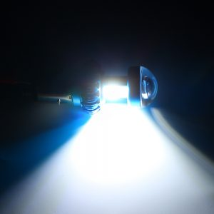 1Pcs 12-85V 0.6A 12W LED Motorcycle Motorbike COB Headlights Spotlight Lamp Bulb