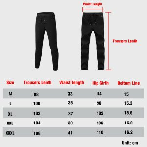 Electric Heated Warm Pants Men Women Heating Base Layer Elastic Trousers USB
