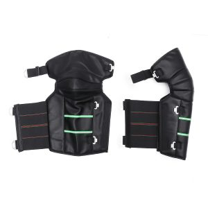 Motorcycle Warm Kneepads Windproof Protective Thicken Winter PU Leather Knee Pad