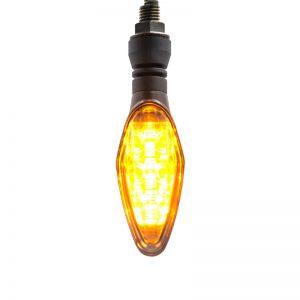 Spirit Beast 12V Motorcycle LED Turn Signal Steering Lights Amber Super Bright Waterproof