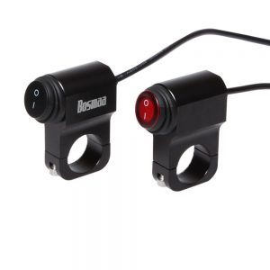 BOSMAA 7/8inch 22mm ON/OFF Headlight Switch For LED Fog Spot Light Motorcycle Waterproof Aluminum Alloy Switch