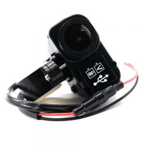 2.1A LED 12V Multifunctional Waterproof Motorcycle USB Charger+Digital Voltmeter+Thermometer