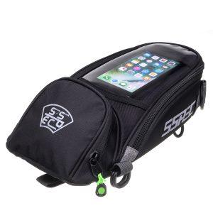 SSPEC Motorcycle Oil Fuel Tank Bag Saddlebags Magnetic Waterproof For Phone GPS
