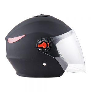 BYB Universal 56-62cm Motorcycle All Season Half Helmet Anti-fog Visor Rainproof Breathable