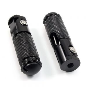 2pcs CNC Universal Motorcycle Foot Pegs Rests Pedal Foldable Accessories