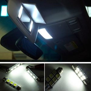 12V White Car Interior LED Lamp Replacement Bulb Reading Dome Lights for VW MK5 Golf GTI