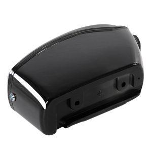 26L Motorcycle Hard Trunk Saddlebags Saddle Bags Side Box w/ bracket light For Cruiser