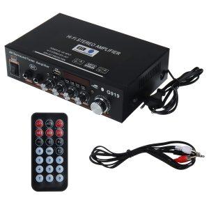 DC12V AC 220V 4-16 Mini bluetooth Remote Control High Power Car Amplifier Speaker