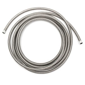 AN6 6AN 6M Stainless Steel Braided Oil Fuel Line & Fitting Hose End Adapter Kit