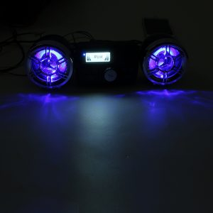 bluetooth Audio FM Radio MP3 Stereo Speaker Sound System Motorcycle Bike ATV UTV