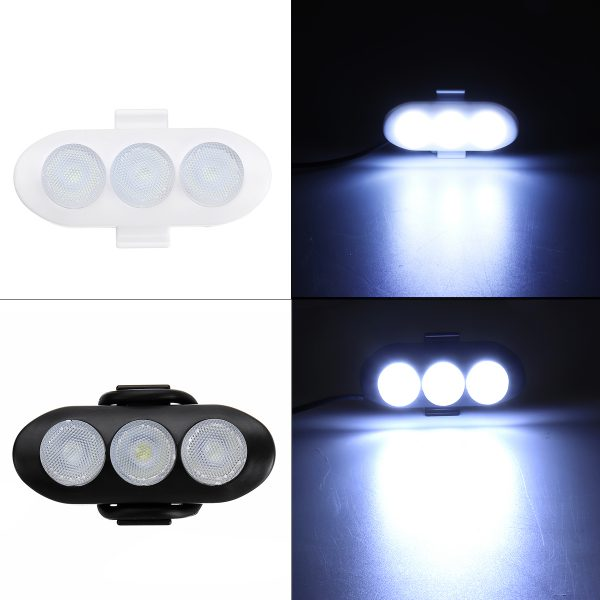 12V 18W 6LED Motorcycle Constantly Bright White Square Auxiliary Light Front Fork Guard Bar Lamp Waterproof