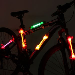 Motorcycle Colorful Bicycle LED Safety Flash Light Night Run Camping Decoration Indicator
