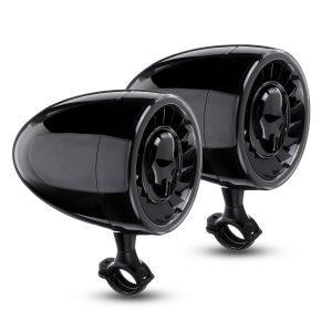 600W Waterproof Motorcycle Stereo Speaker Handlebar Audio Amp System with bluetooth Funciton Black