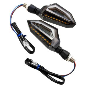 4Pcs 12V Motorcycle Blue LED Turn Signal Indicator Lights For Kawasaki/Yamaha/BMW/Honda/KTM