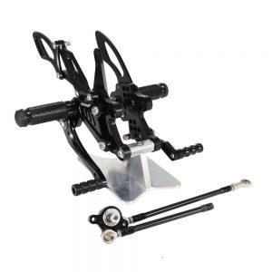 NEVERLAND CNC Adjustable Foot Pegs Rearset Footrest For HONDA CBR1000RR 04-07 CBR600RR 03-06